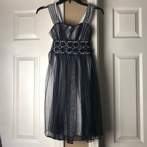 Girls formal black dress
